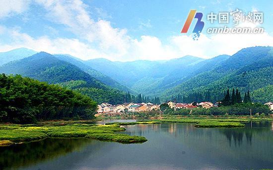 图为江北区慈城镇南联村美景。