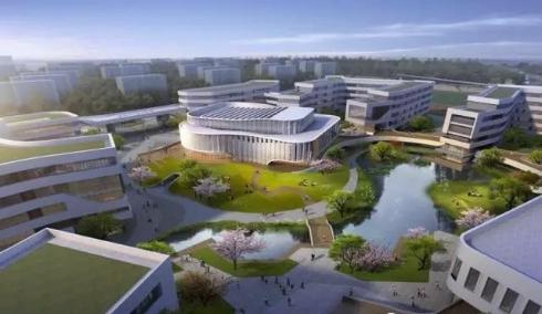 (宁波科学中学鸟瞰图。图片来自科学中学校园网。)