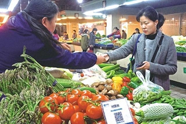 鄞州菜场逐渐普及无现金支付 扫码就能付款
