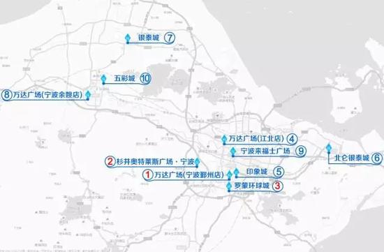 宁波商圈位置图