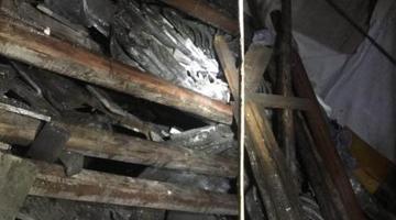 北仑1民房屋顶塌落消防救援成功