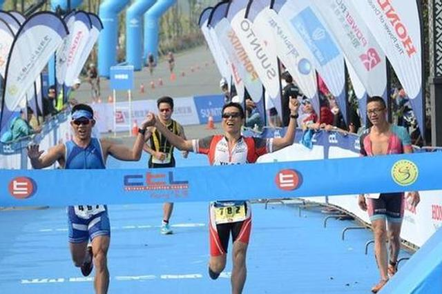 宁波举办2017中国铁人三项联赛 李郴获男子大师组别冠军