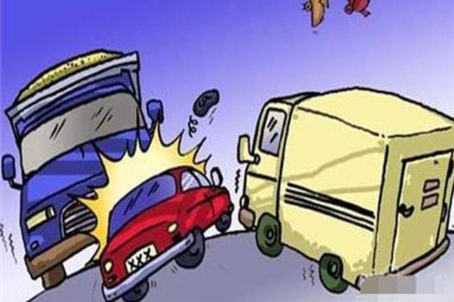 鄞州发生一起三车追尾事故 中间车主为全责
