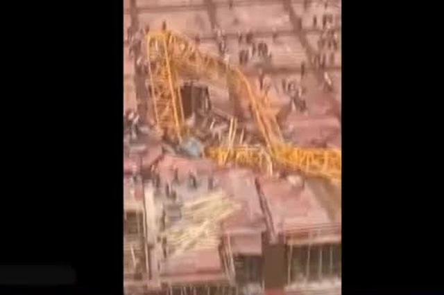 鄞州一建筑工地发生塔吊倒塌事故 致一人死亡