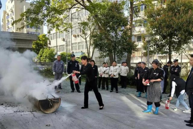 宁波市中心血站组织开展消防安全培训演练