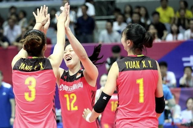 世界女排联赛宁波站:中国队3比0轻取多米尼加