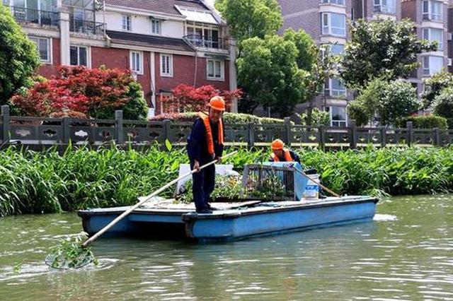 宁波主城区河道保洁员换新救生衣了 更安全更凉爽