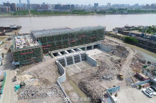 江北最大强排泵站主体完工 新排涝通道缓解内涝