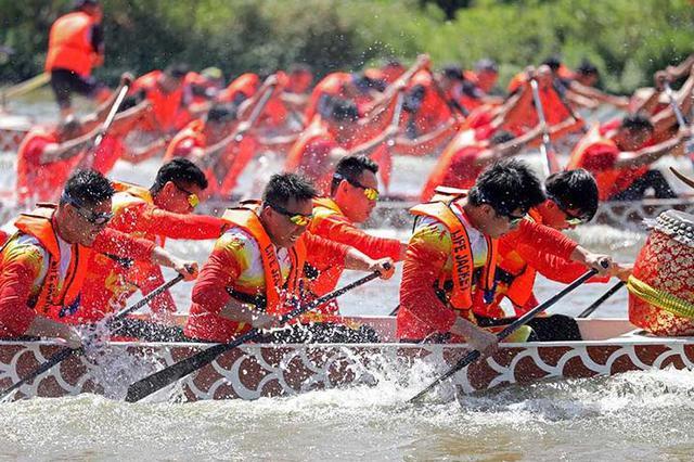 慈溪龙山镇举办龙舟比赛 热热闹闹迎接端午