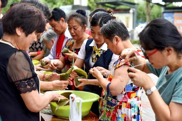 玩转端午传统习俗 江北朱家社区端午假期真热闹