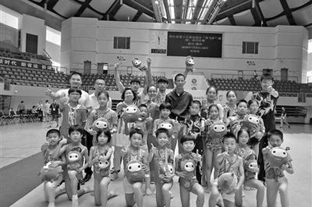 省运会蹦床技巧比赛 宁波蹦床少年一口气捧走8枚金牌