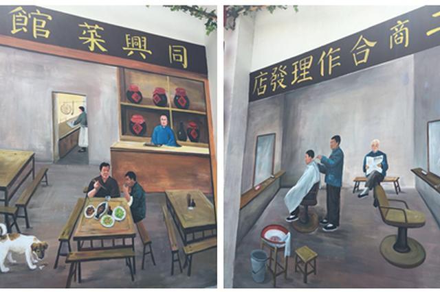 甬1男子自学绘画月入2万 呈现鄞州东新老街昔日繁华