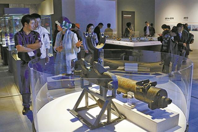 致远舰出水文物在宁波中国港口博物馆展出