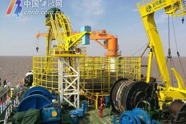 世界首条500千伏交联聚乙烯海缆铺设 将连接甬舟电网