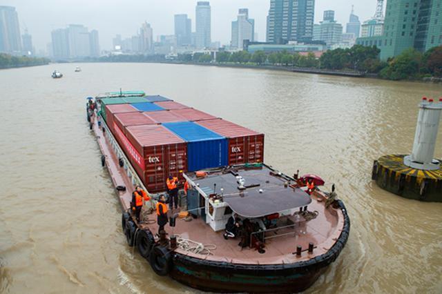 杭甬运河宁波段有望通航内河集装箱船 运费最高省35%