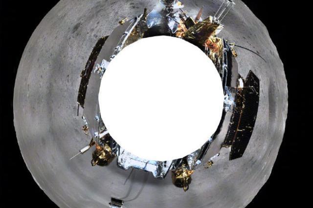 嫦娥四号发回来一组月表全景美照 光学镜头出自宁波
