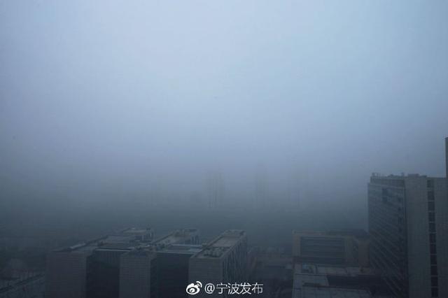 宁波低能见度提醒 部分地区出现能见度低于1000米的雾
