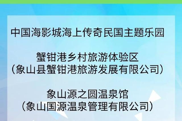 好消息 86处宁波职工疗休养推介基地名单出炉
