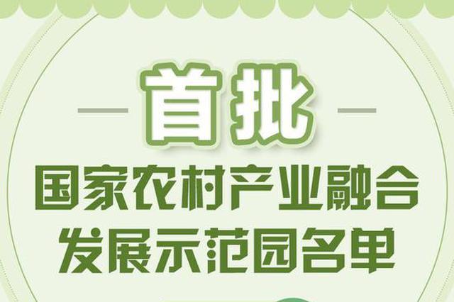 首批国家农村产业融合发展示范园名单 浙江6地上榜