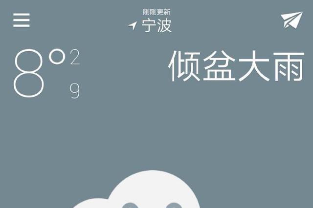 宁波今日阴有小中雨 明日降温或有雨夹雪