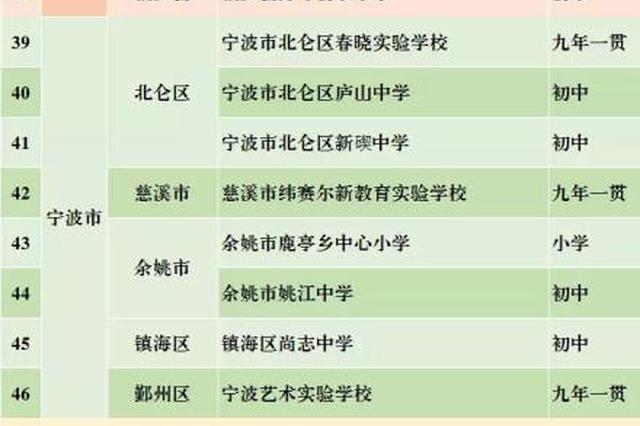 浙江第二批义务教育标准化学校名单公布 宁波八所达标