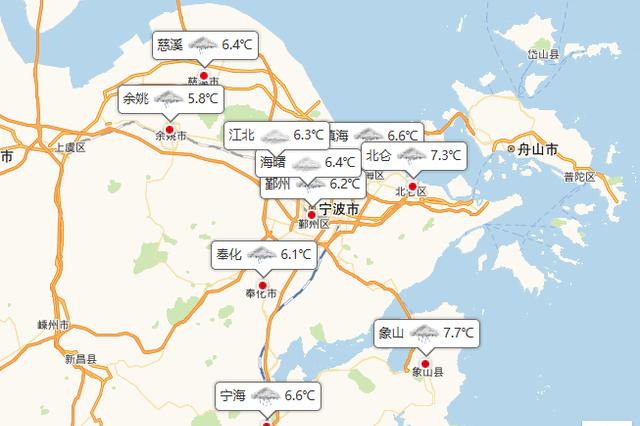 宁波持续阴雨天气至三月上旬 今日最高气温8℃