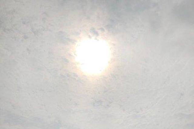 宁波各地出现久违的太阳 昙花一现还将持续阴雨
