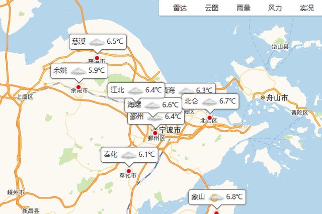 宁波今日多云到阴 夜间阴转小雨持续潮湿