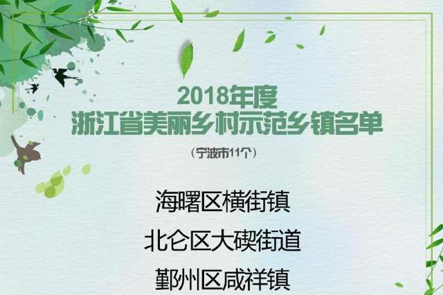 宁波41地入选浙江美丽乡村 示范乡镇特色精品村