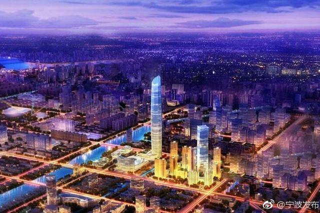 宁波第一高楼城市之光昨天开工 450米超高层
