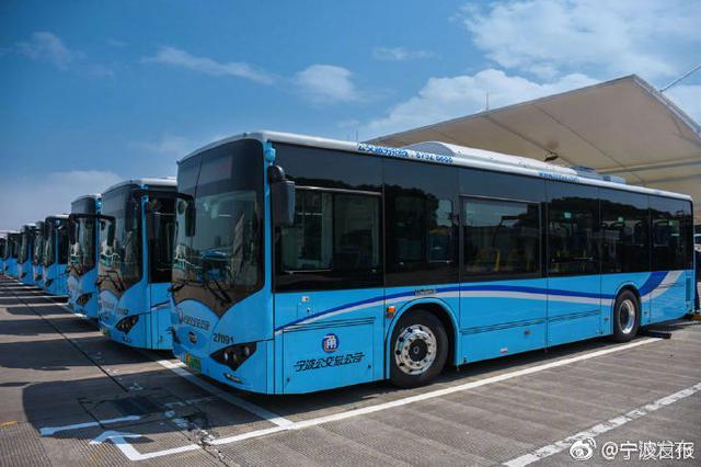 宁波历史最悠久公交线换新车 纯电动公交车投放1路车