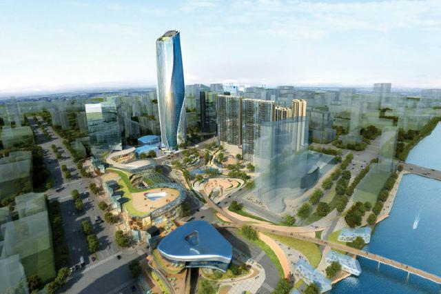三江口250米的宁波塔年底封顶 预计明年底将正式亮相
