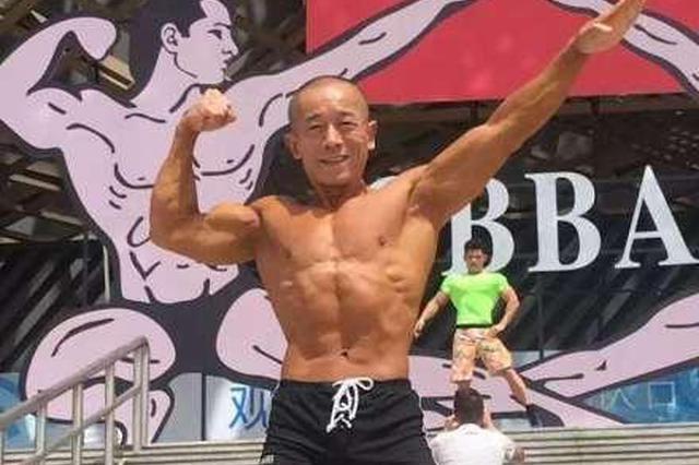 宁波已年过50的健美老将吴忠梁将代表中国出战亚锦赛