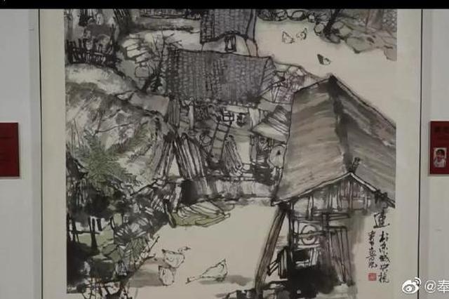 央视书画创作院学员来奉化写生 画笔记录金峨村