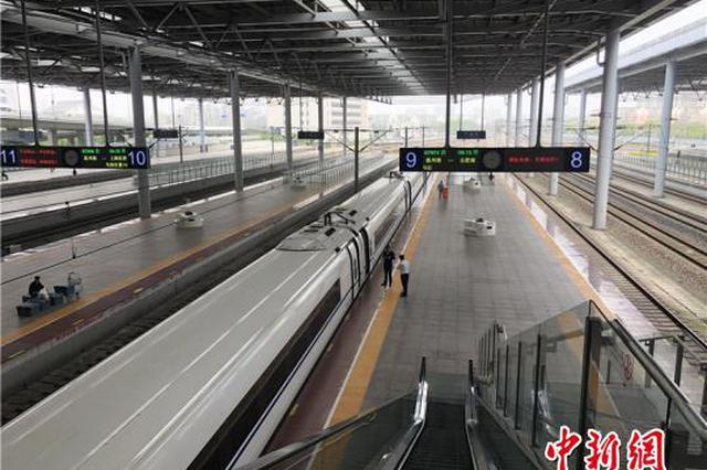 宁波火车站台上的五一风景线 热闹与冷清随机播放