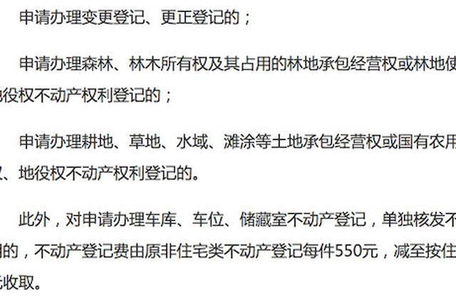 7月1日起 宁波部分办理不动产登记业务可免征登记费