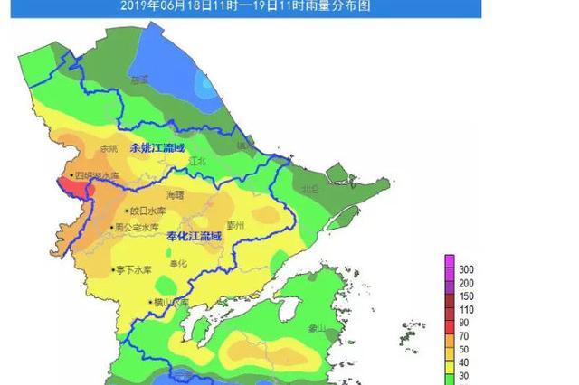 宁波气象台发布暴雨黄玉预警 今明两天仍有暴雨