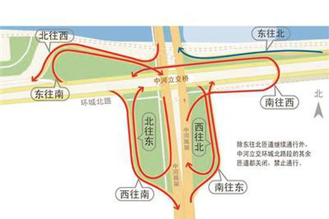 本周六起 杭州上塘高架中河立交7条匝道封闭施工