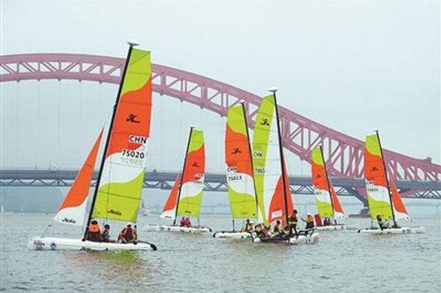 2019中国家庭帆船赛宁波站在梅山启航 近200名选手参加