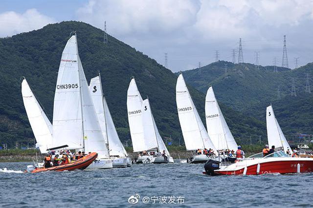 全國帆船邀請賽在北侖揚帆起航 吸引百名運動員參賽
