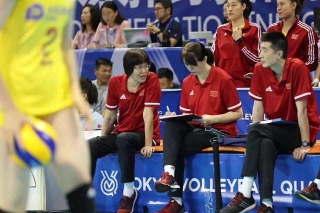 在北侖舉行的東京奧運會女排資格賽中國女排三戰全勝
