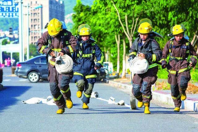 象山消防救援指戰員36人每日集中開展盛夏大練兵活動