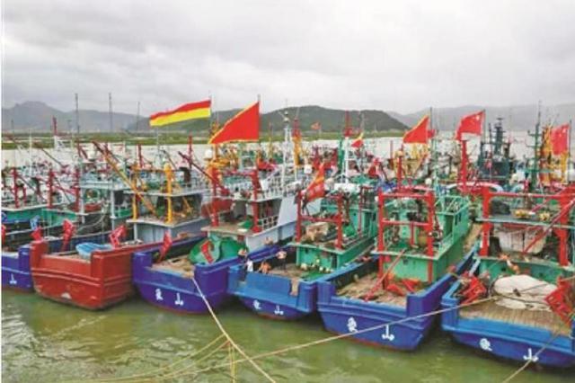 象山渔船开往新桥锚地防台避风 2000余艘顺利转港