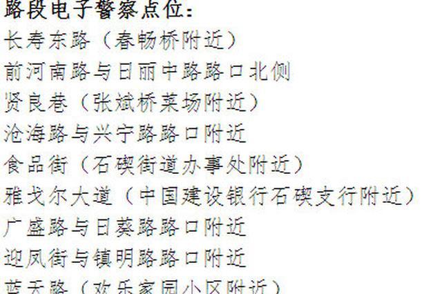 宁波新启用一批电子警察 对违停等交通违法进行抓拍