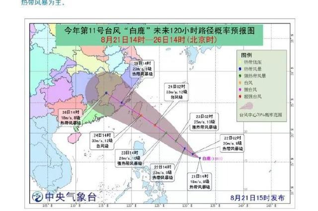 今年第11号台风白鹿已生成 宁波未来一周天气预报