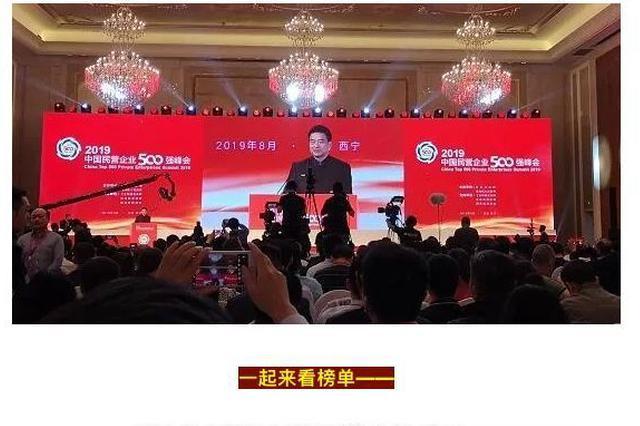 2019中国民营企业500强出炉 宁波15家企业上榜
