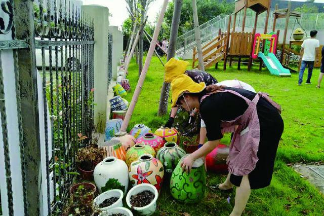 预防登革热护儿童健康 象山一幼儿园开展环境大整治