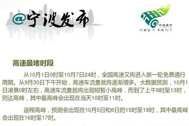 国庆长假出行预测报告出炉 宁波周边景区人气预测