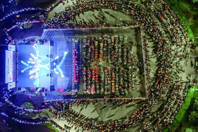 象山西周镇举办祝福祖国老年健身秀 吸引数千观众