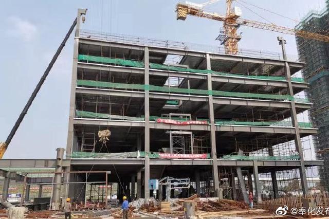 奉化金海路站轨交管理用房建成 后续将开展装修工作